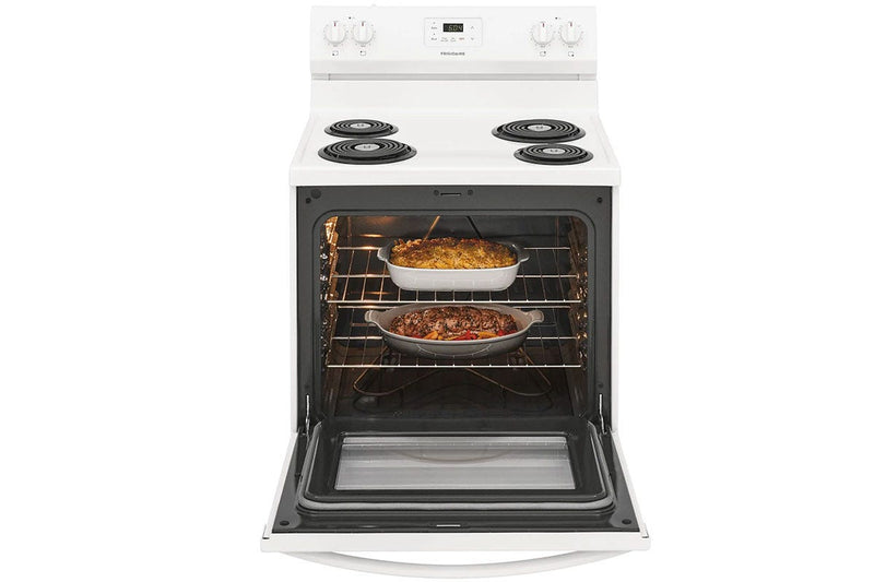 Frigidaire White Freestanding Electric Coil Range (5.3 cu. Ft.) - FCRC301CAW