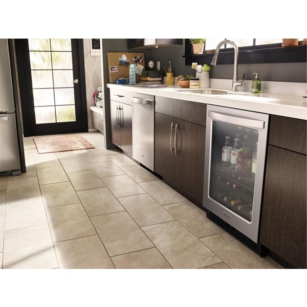 Whirlpool 5.2-cu ft Stainless steel Built-in/Freestanding Beverage Center-WUB50X24HZ