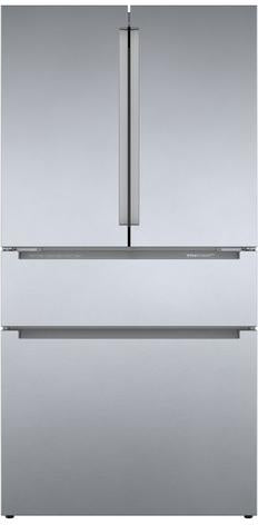 Bosch 800 Series Stainless Steel Counter_Depth 4 Door Refrigerator Rececssed Handle - B36CL80ENS