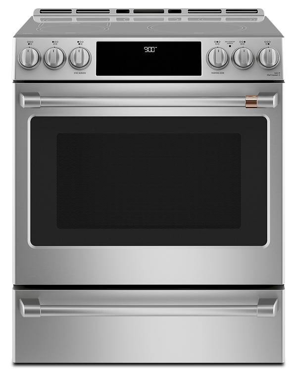 Cafe Slide-In Electric Range with Warming Drawer - CCHS900P2MS1