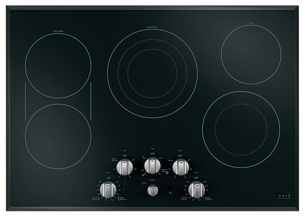 "Cafe 30"" Electric Cooktop with Knobs - CEP70302MS1"