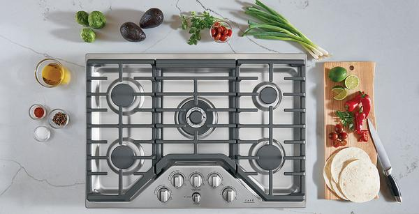 "Cafe 30"" Built-In 5-Burner Gas Cooktop - CGP95302MS1"