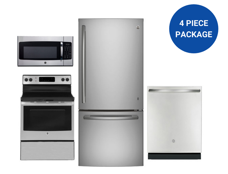 GE 4-Piece Kitchen Appliance Package-Limited Stock!