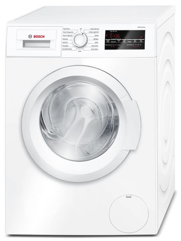 Bosch 2.2 Cu. Ft. Compact Washer and 4.0 Cu. Ft. Compact Condensation Dryer - White-WAT28400/WTG86400