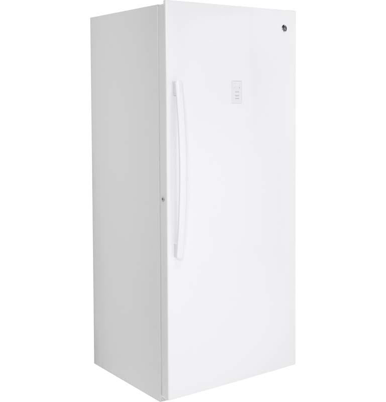 GE 21.3 Cu. Ft. Upright Freezer in White-FUF21SMRWW