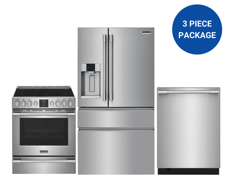 Frigidaire 3-Piece Kitchen Appliance Package in Stainless Steel