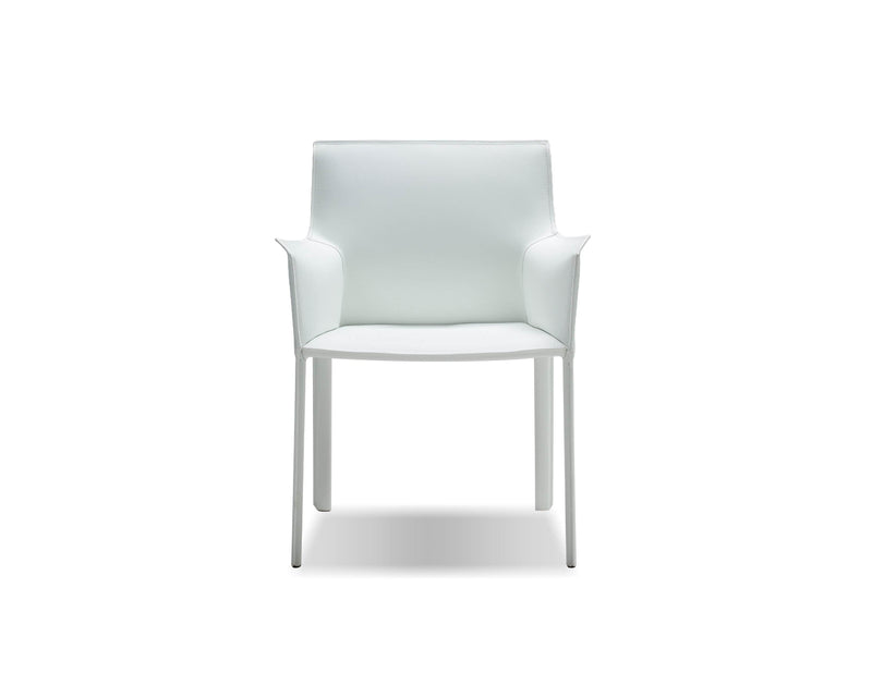 Pending - Mobital Arm Chair White Fleur Arm Chair Full Leather Wrap - Available in 4 Colours