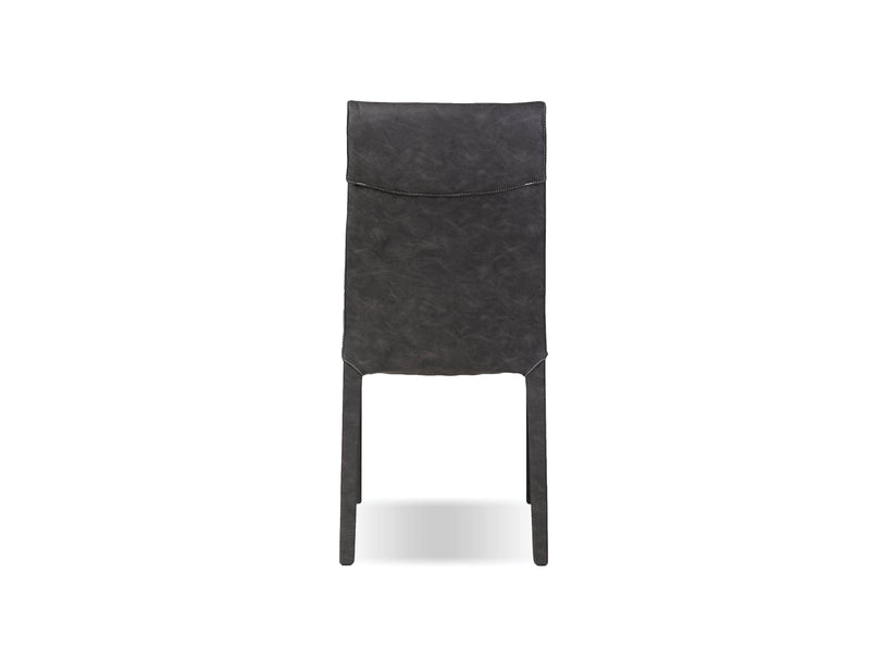 Mobital Dining Chair Grey Harris  Dining Chair Grey Full Leatherette Wrap With White Stitching Set Of 2