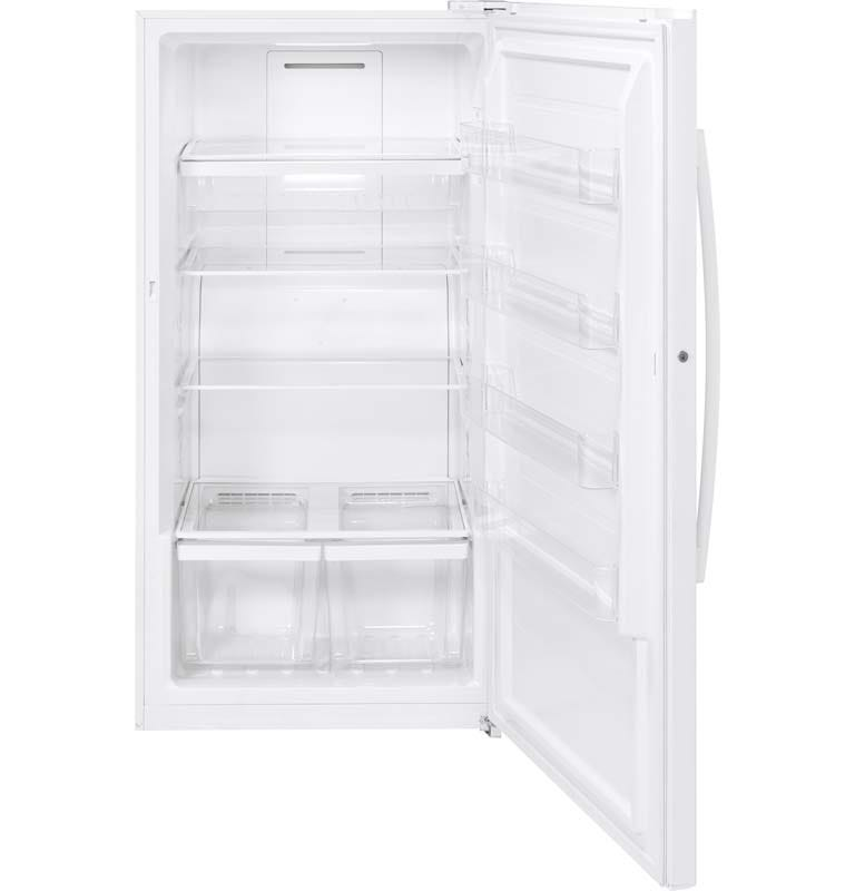 GE 17.3 Cu. Ft. Upright Freezer in White-FUF17DLRWW