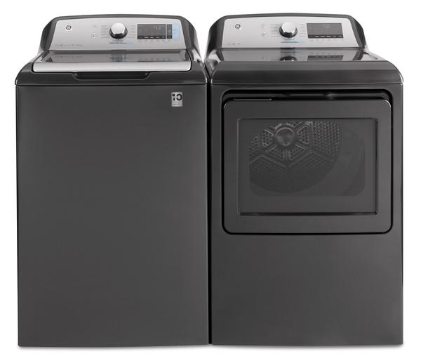 GE 6.0 Cu. Ft. Smart Top-Load Washer and 7.4 Cu. Ft. Electric Dryer-GTW840DG/GTD84EDG