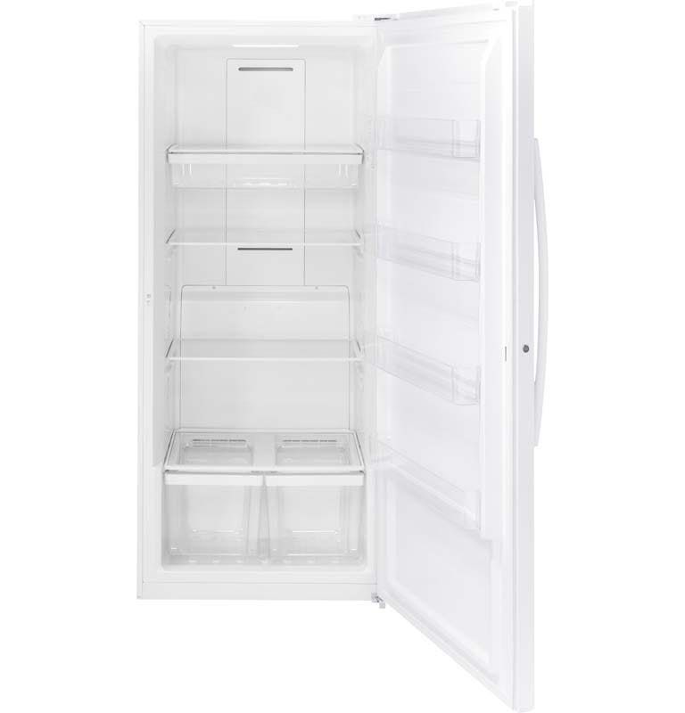 GE 21.3 cu. Ft. Frost Free Upright Freezer in White-FUF21DLRWW