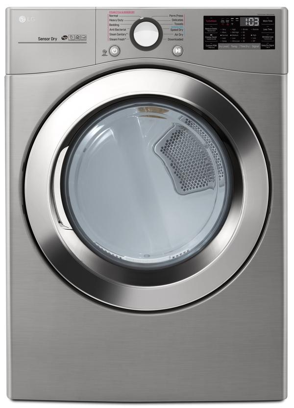 LG Wi-Fi Enabled Smart Front-Load 5.2 Cu. Ft. Washer and 7.4 Cu. Ft. Electric Dryer-WM3700HV/DLEX370V
