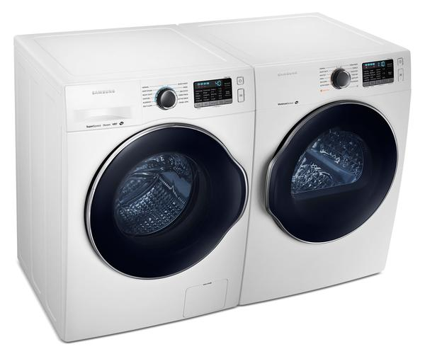 Samsung Compact 2.6 Cu. Ft. Front-Load Washer and 4.0 Cu. Ft. Electric Dryer White-WW22K680/DV22K680