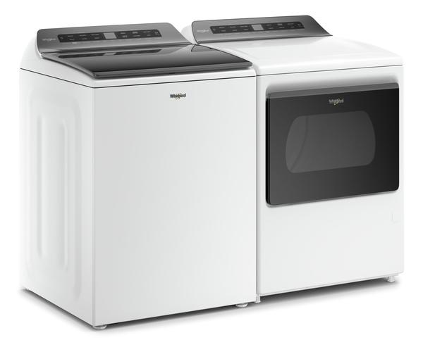 Whirlpool 5.5 Cu. Ft. Smart Top-Load Washer and 7.4 Cu. Ft. Smart Gas Dryer -WTW612W/WGD6120W