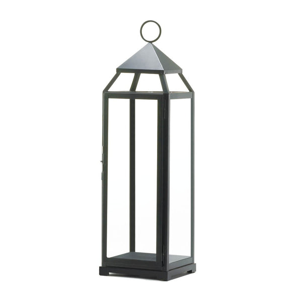 Extra Tall Black Contemporary Lantern