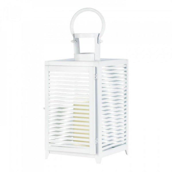 Large White Horizon Lantern