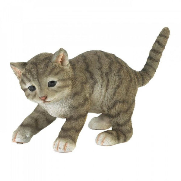 Cute Playing Cat Figurine
