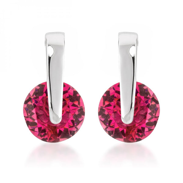 Red Cz Elegance Earrings
