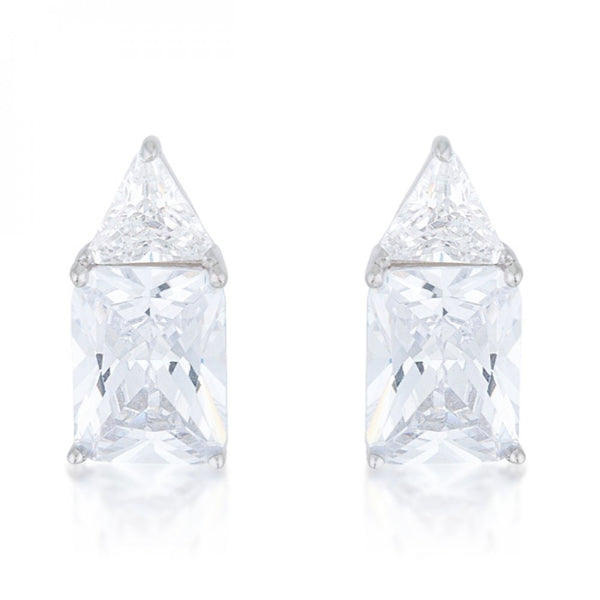 Classic Cubic Zirconia Sterling Silver Stud Earrings