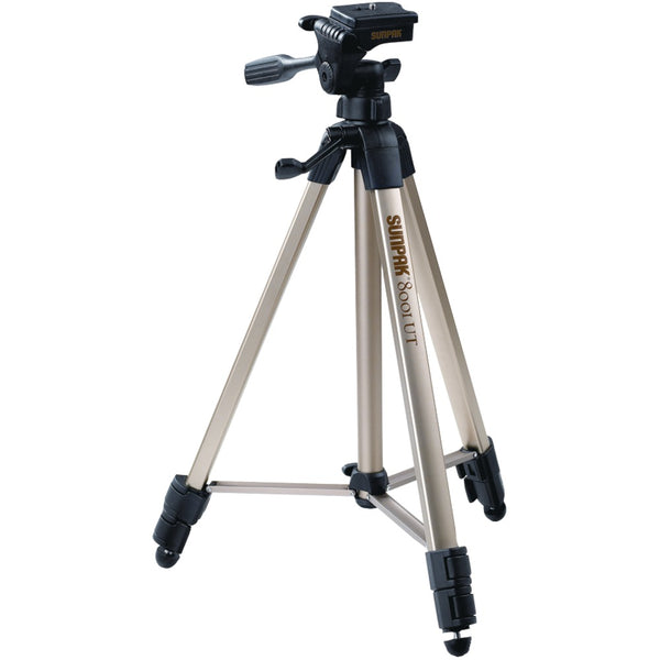 "Sunpak Tripod With 3-way Pan Head (folded Height: 20.8""; Extended Height: 60.2""; Weight: 2.3lbs; Includes 2nd Quick-release Plate)"