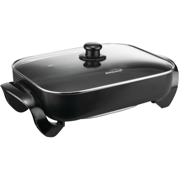 "Brentwood Electric Skillet With Glass Lid (1400w; 16"")"