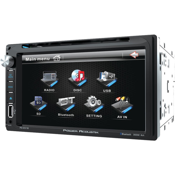 "Power Acoustik 6.5"" Double-din In-dash Lcd Touchscreen Dvd Receiver (with Bluetooth)"