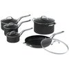 The Rock By Starfrit The Rock By Starfrit 10-piece Cookware Set With Stainless Steel Handles
