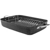 "The Rock By Starfrit The Rock By Starfrit 17"" Roaster With Rack & Stainless Steel Handles"