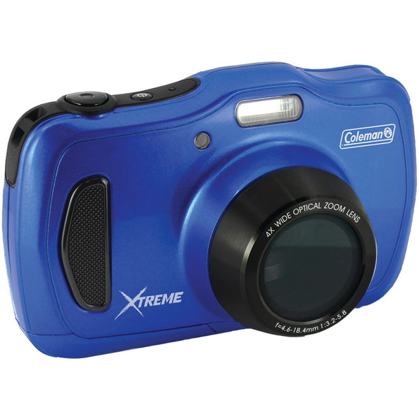 Coleman 20.0-megapixel Xtreme4 Hd Waterproof Digital Video Camera (blue)