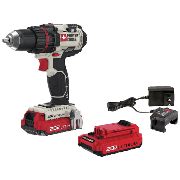 "Porter-cable 20-volt Max* 1 And 2"" Cordless Drill And Driver Kit"