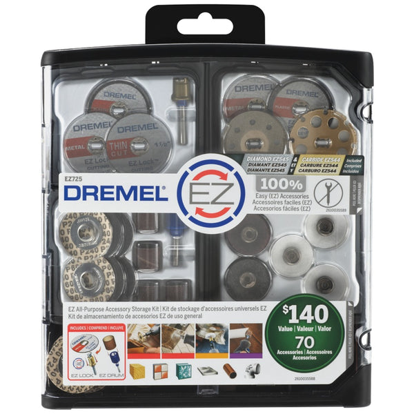 Dremel 70-piece Ez All-purpose Accessory Storage Kit