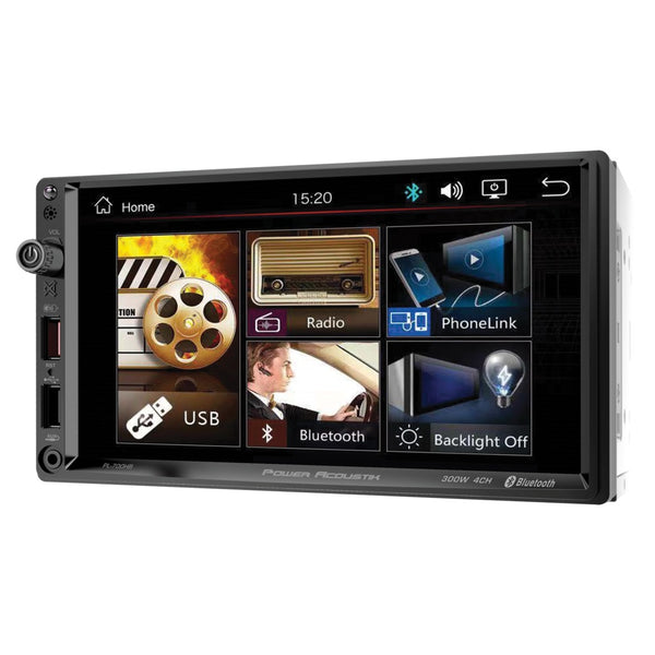 Power Acoustik Pl-700hb 7-inch Double-din In-dash All-digital Media Receiver With Bluetooth And Android Phonelink