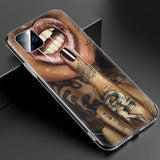 Hot Sexy Sleeve Tattoo Girl Soft Silicone iPhone Case