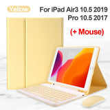 Bluetooth Keyboard Mouse Case For iPad 9.7 2017 2018 2019 10.2 5th 6th 7th Generation