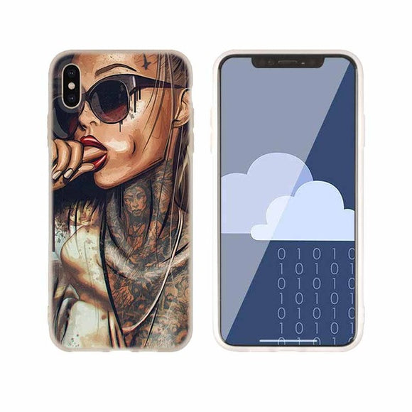 Sexy Sleeve Tattoo Girl iPhone Case