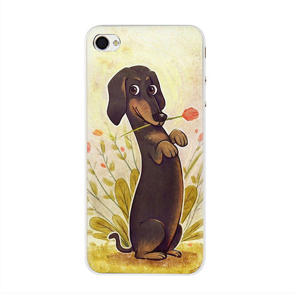 Cute Cartoon Dachshund iPhone Case