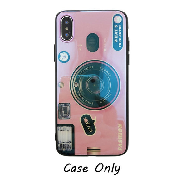3D Retro Camera Lanyard iPhone Case