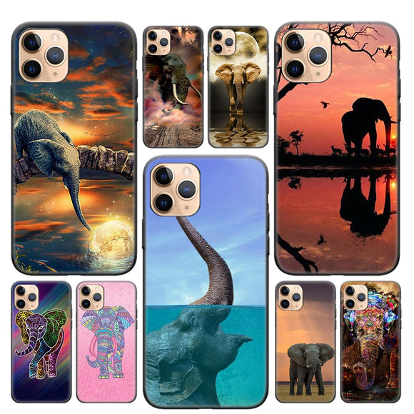 Elephant Silicone Soft TPU iPhone Case