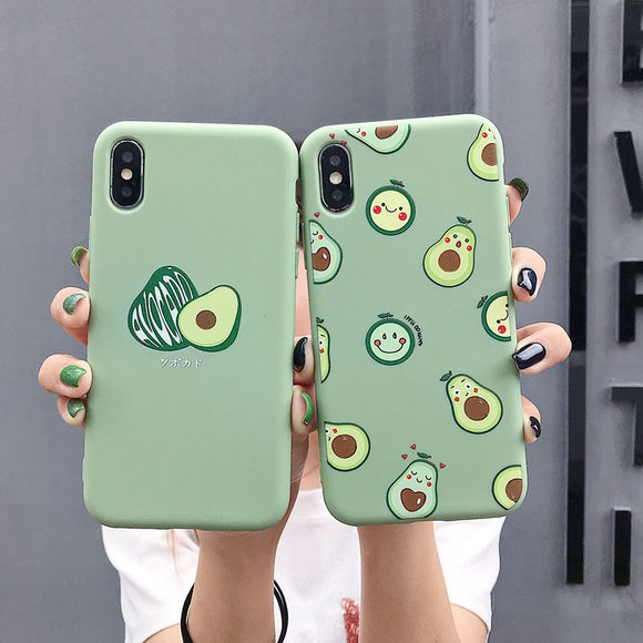 Cute Avocado Funny Dinosaur iPhone Case