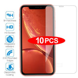 10 pçs tempered glass for iPhone