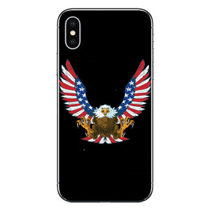 Eagles Flag of United States American All Over Printing iPhone Case