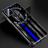 Blue Line American Flag iPhone Case