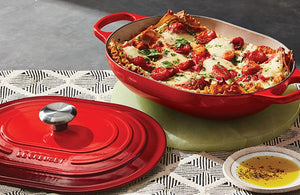 3.75QT Signature Oval Casserole Cherry