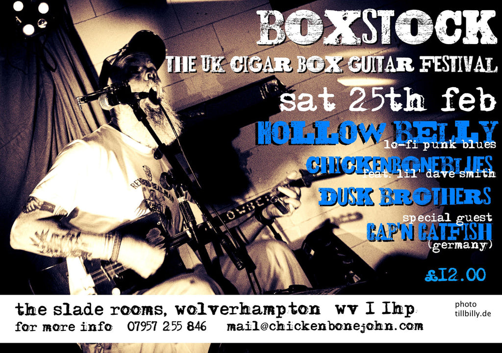 Boxstock 2017, the return of the UK Cigar Box Guitar Festival