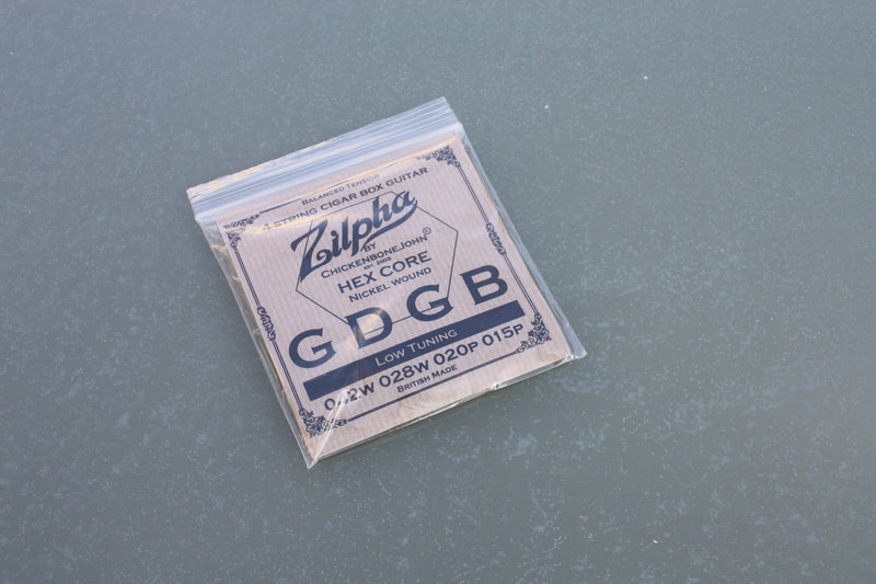 "Zilpha Strings - 4 String Balanced Tension ""Low"" GDGB (Nickel)"