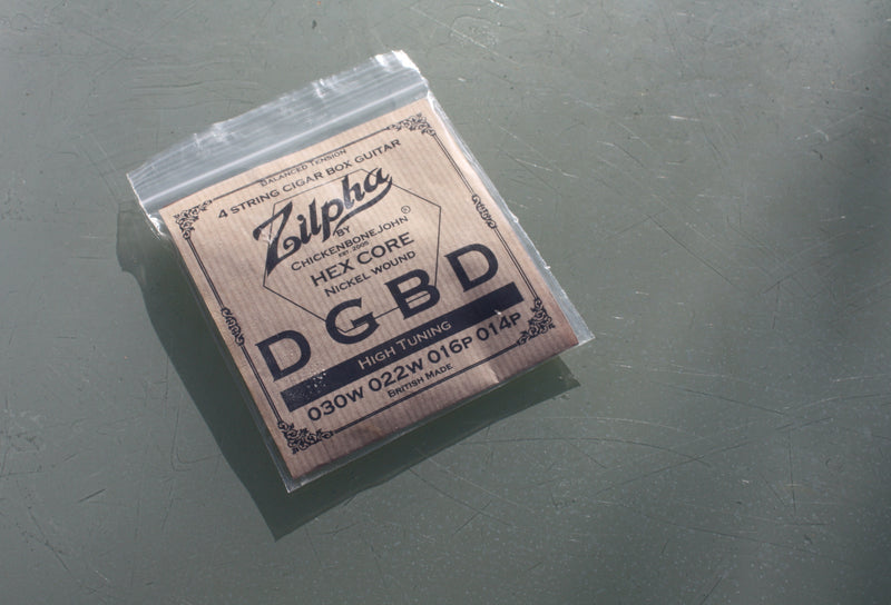 "Zilpha Strings - 4 String Balanced Tension ""HIGH"" DGBD tuning (Nickel)"