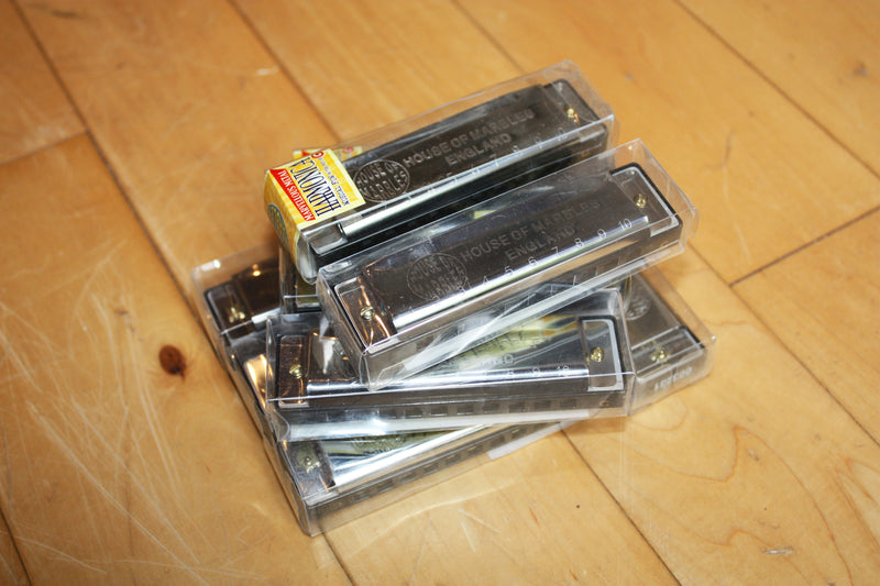 Harmonica collection in key C made by House of Marbles.