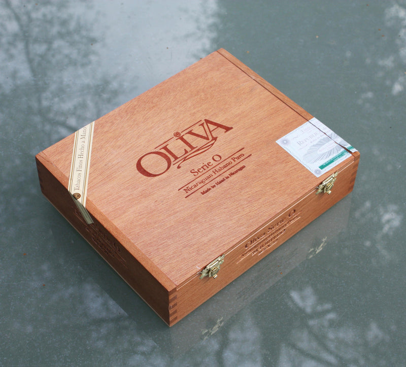 Oliva cigar box made in the Dominican Republic.