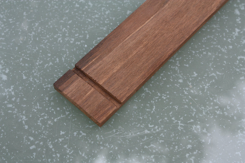 Blackwood Tek Fretboard, blank with nut slot for 3 string cigar box guitars.
