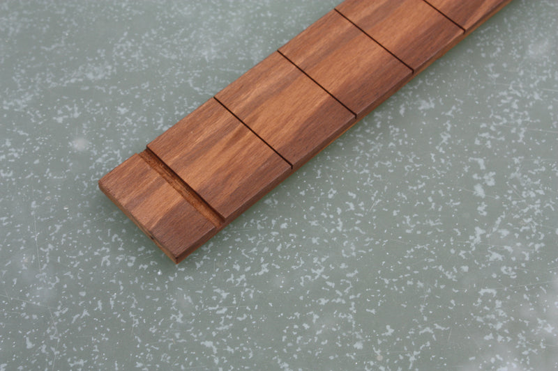 Blackwood Tek Fretboard, slotted with nut slot for 3 string cigar box guitars.